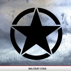 Military Star Decal Invasion Style