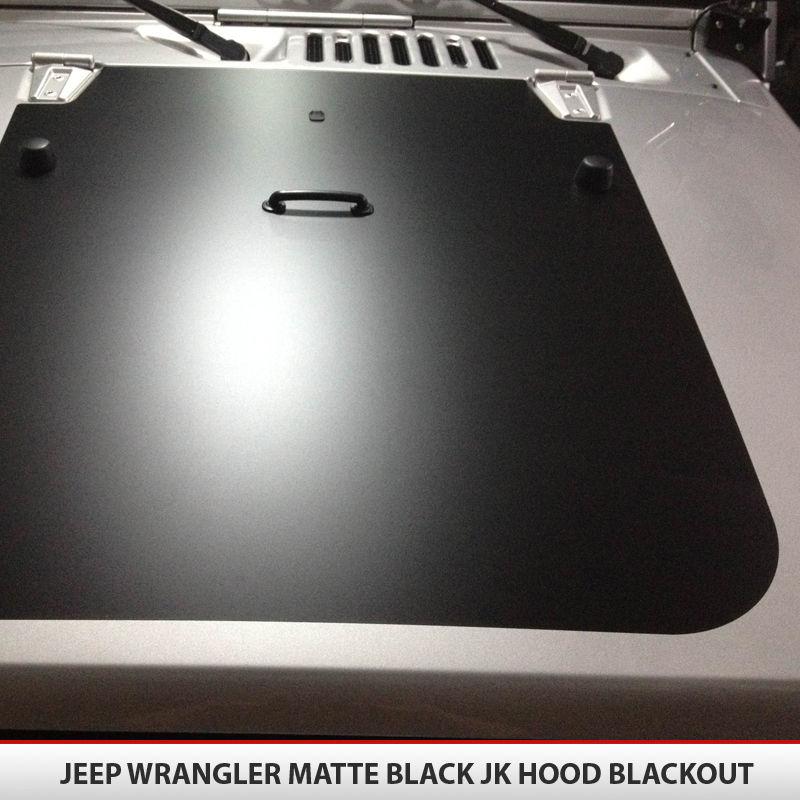 Matte White Jeep Patriot >> Jeep Wrangler JK Blackout Hood