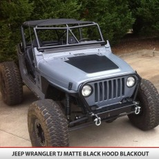 Jeep Wrangler Tj Hood Blackout Matte Black5