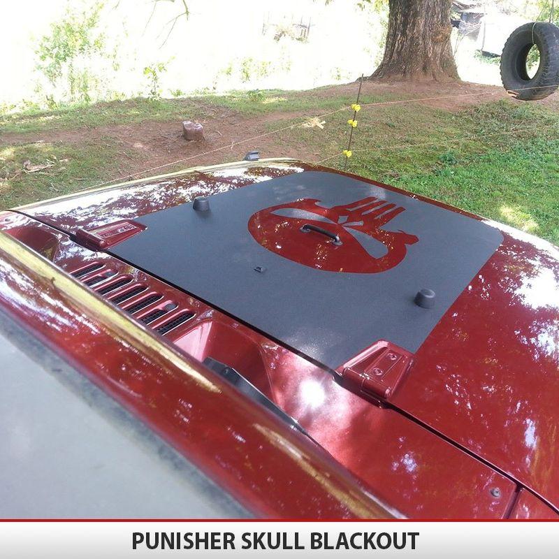 Punisher Skull Hood Blackout TJ YJ JK2