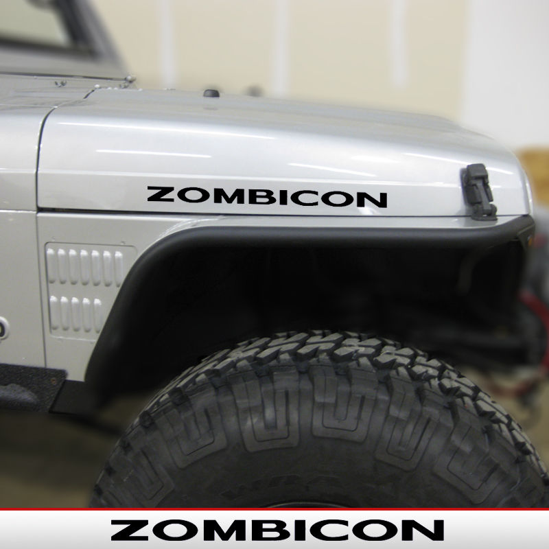 Zombicon Rubicon Hood Decals