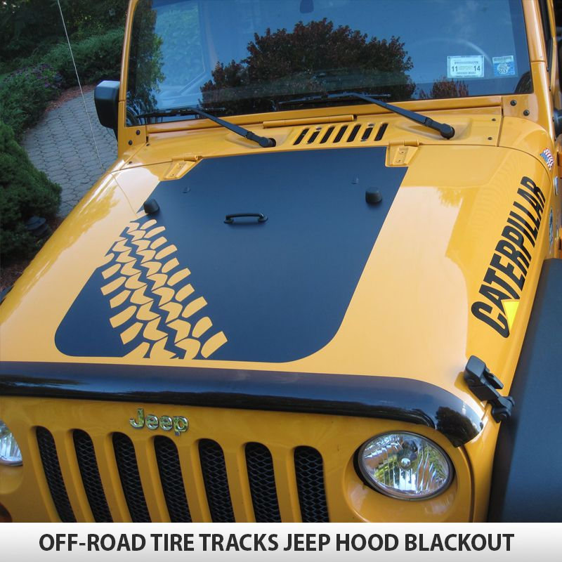 Off Road Tire Tracks Hood Blackout