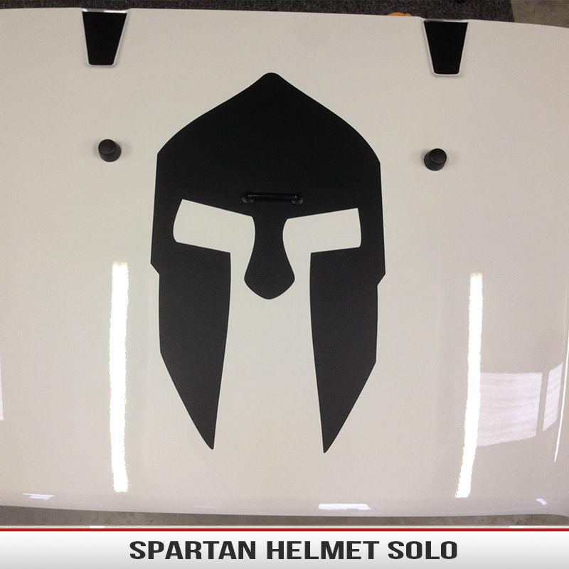 Spartan Helmet Hood Decal