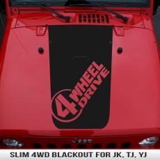 Slim 4 Wheel Drive Hood Blackout