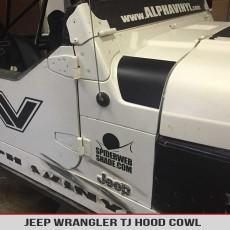 Jeep Wrangler Tj 1997 2006 Hood Cowl Matte Black Jeep Decal