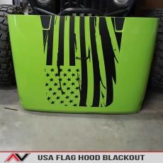 USA Flag Jeep Wrangler JK