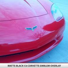 Corvette Overlay Logo Matteblack