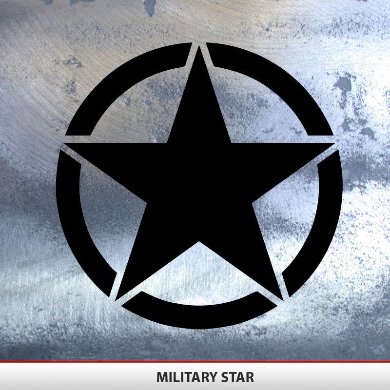 Military Star Decal Invasion Style Alphavinyl