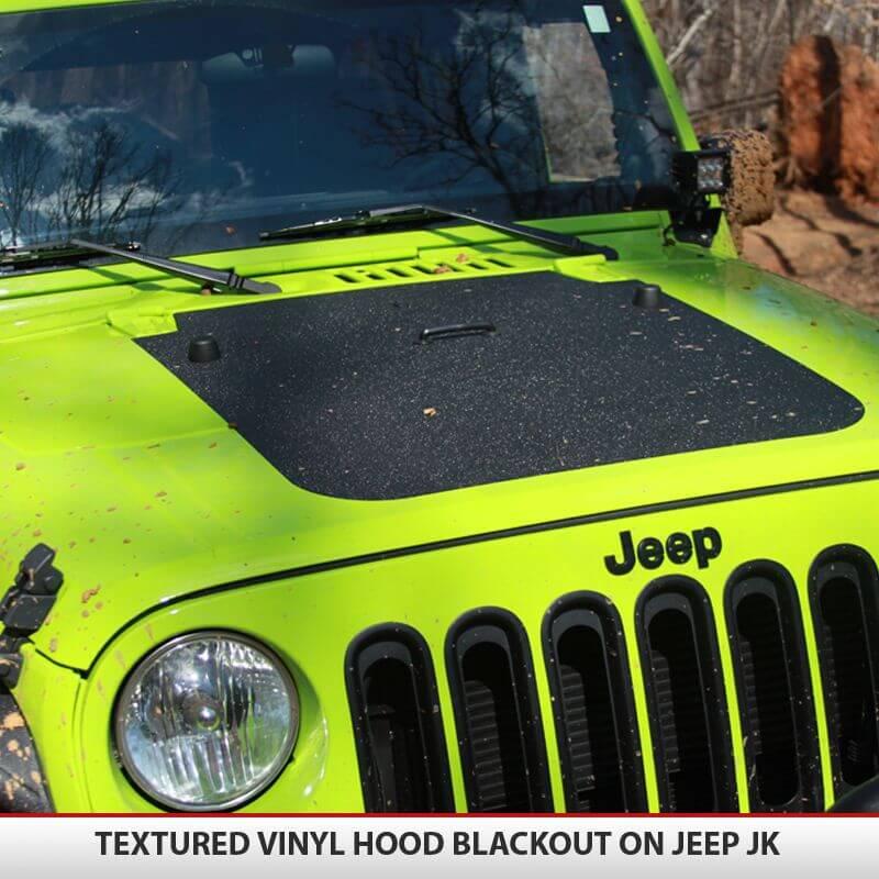 Jeep Wrangler JK Blackout Hood AlphaVinyl - Jeep hood decalsmatte black jeep hood decal