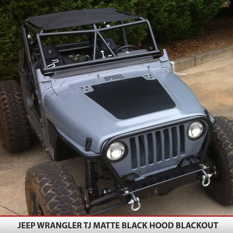 Hood Blackout Vinyl Decal For Jeep Wrangler Tj 97 06
