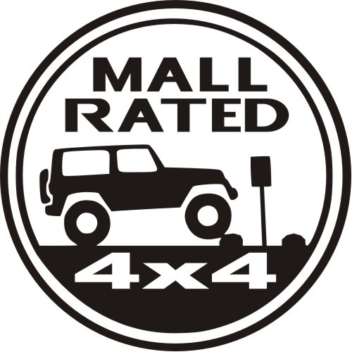 Fj Cruiser Sticker >> Jeep Wrangler 2 Dr Mall Rated | AlphaVinyl