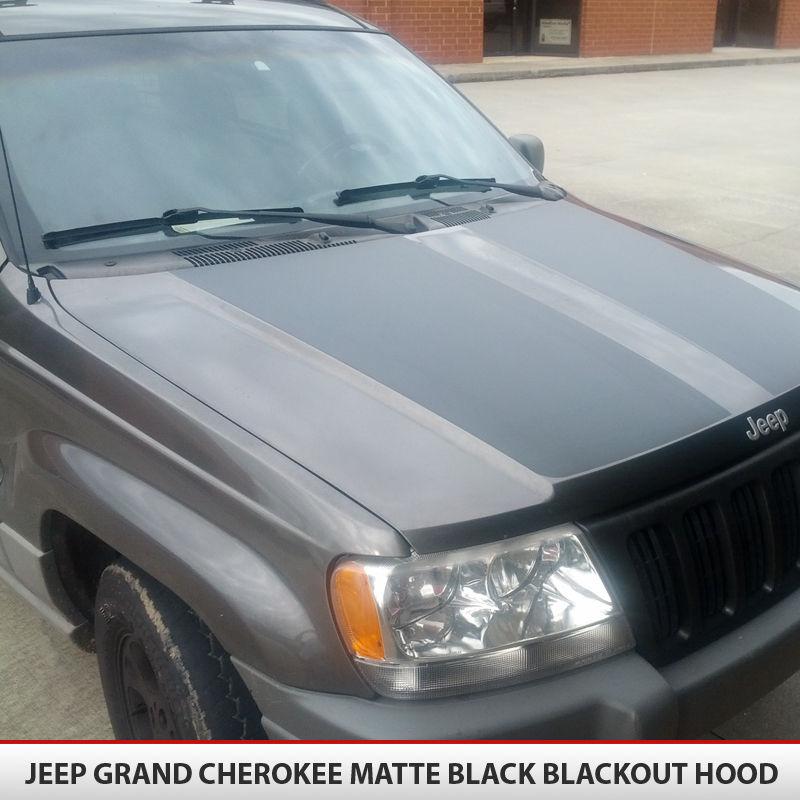 Jeep Grand Cherokee Blackout Hood AlphaVinyl - Jeep hood decalsmatte black jeep hood decal