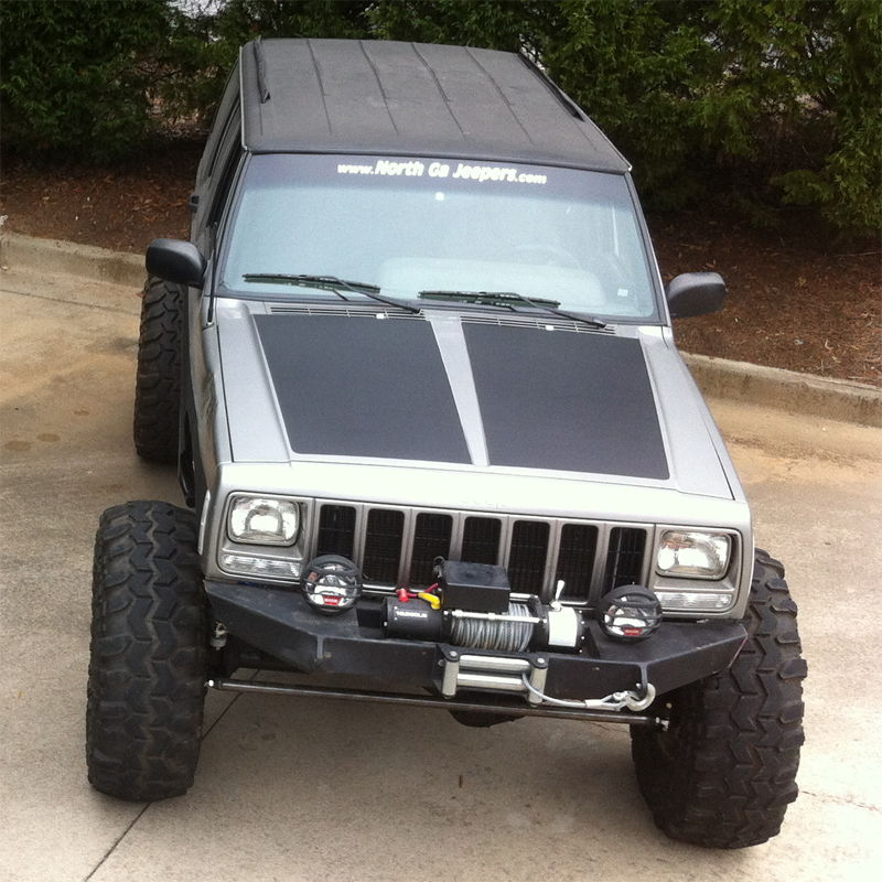 In By Popular Demand, Blackout Hoods For Jeep Cherokee XJ Now Available!