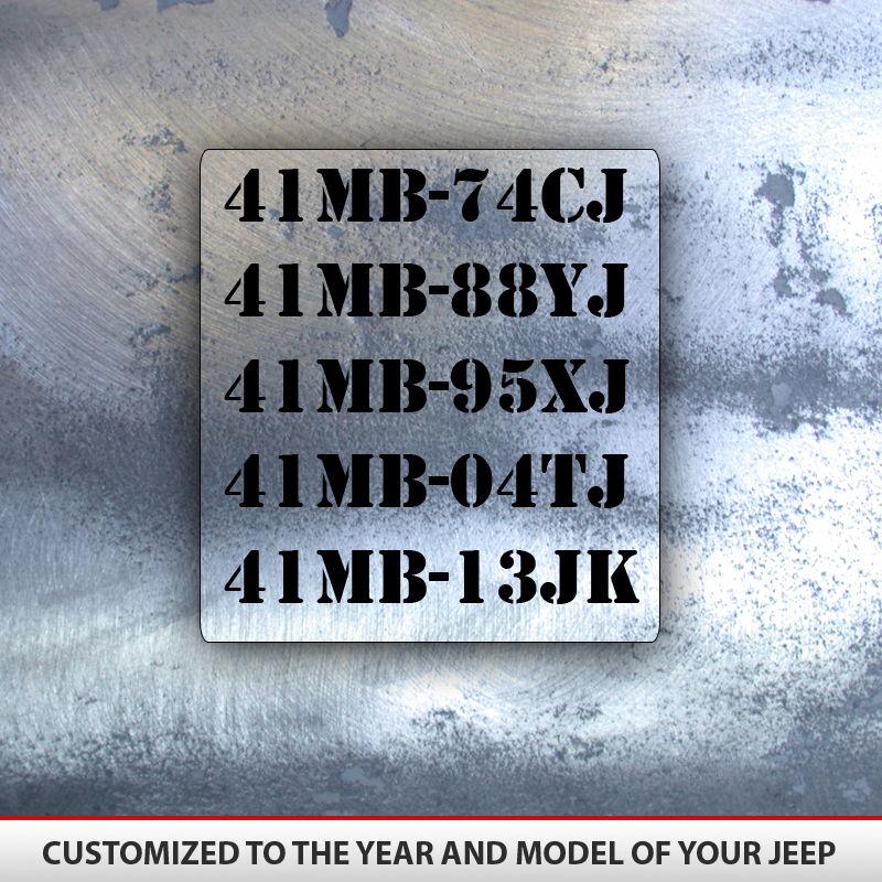 Jeep Military Decal Set 8 Decals Alphavinyl