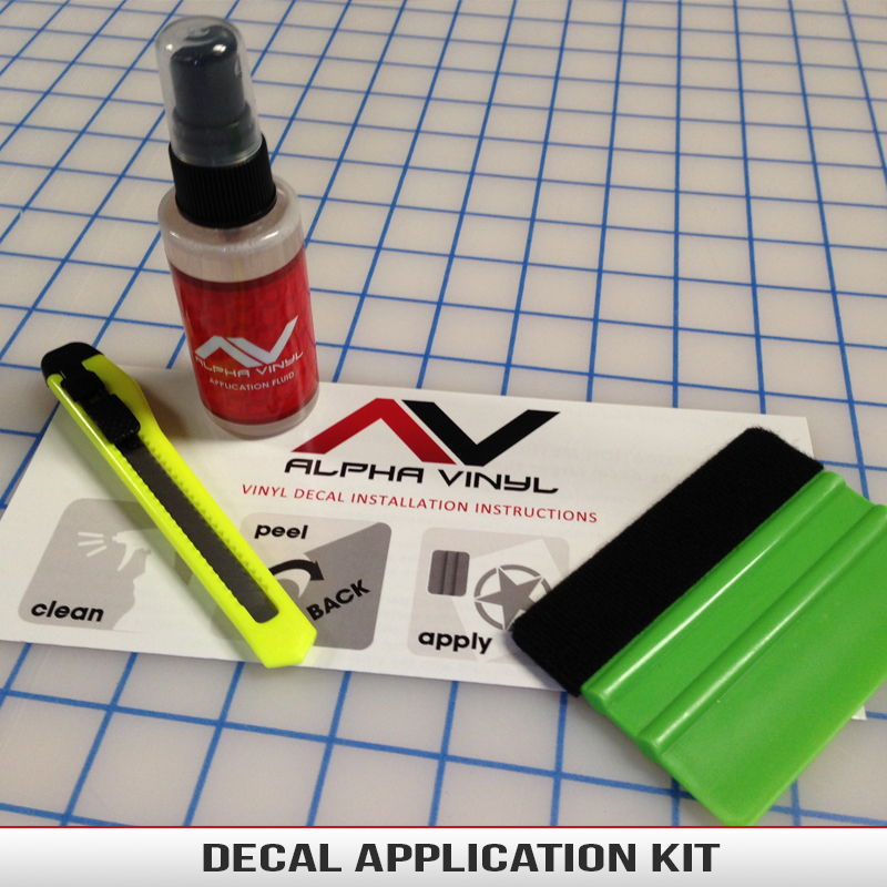 Decal Application Kit AlphaVinyl - Custom vinyl decal application spray