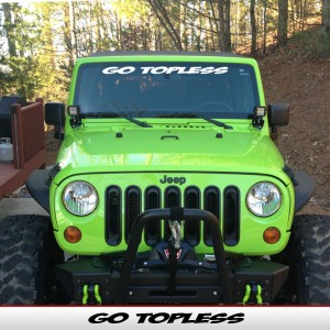Go Topless Windshield Banner