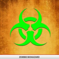 Zombie Biohazard Decal