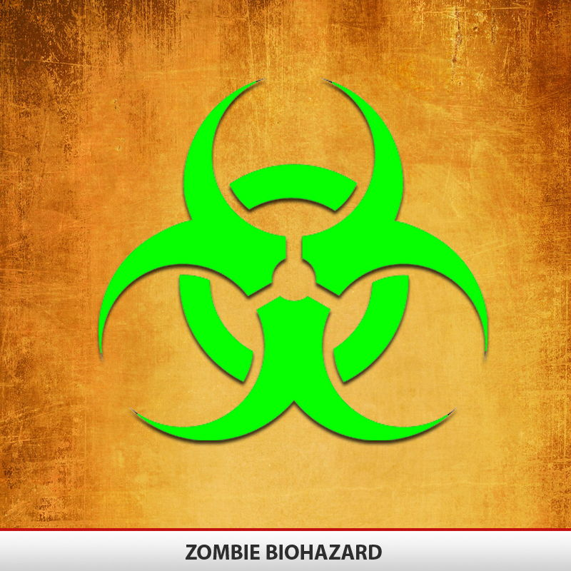 Zombie Biohazard Decal | AlphaVinyl