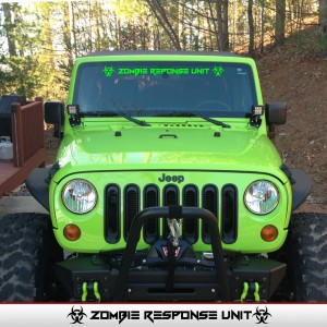 Zombie Response Unit Windshield Banner Jeep