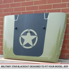 Military Star Jeep Hood Blackout