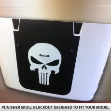 Punisher Skull – Jeep Blackout Hood Vinyl Decal