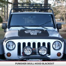 Punisher Skull Hood Blackout TJ YJ JK