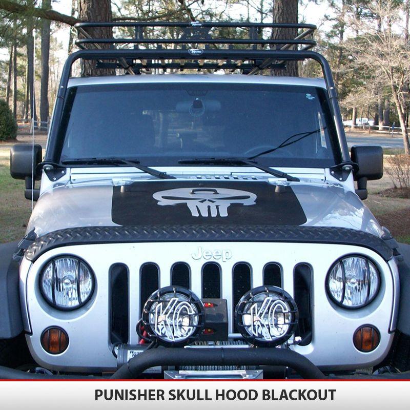 Punisher Skull Hood Blackout TJ YJ JK