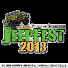 Pickens Jeep Fest 2013 Diecut Decal