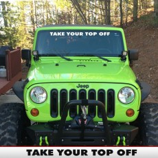 TOP OFF Windshield Banner