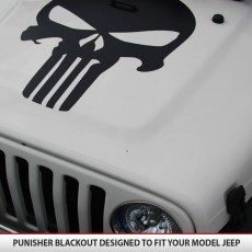 Punisher Blackout Jeep Wrangler JK TJ YJ2