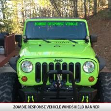 Zombie Resp Veh Windshield Banner