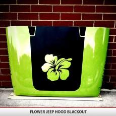 Flower Jeep Hood Blackout