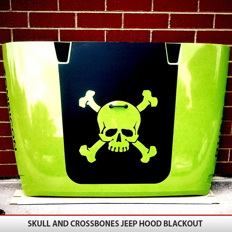 Skull And Crossbones Hood Blackout AlphaVinyl - Custom vinyl decal application spray