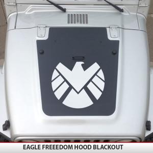 Eagle_bird_freedom_hood_blackout_jeep_wrangler_JK,TJ,YJ