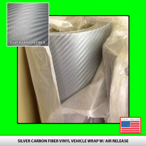 Silver_carbonfiber_vinyl_3D_weave_phone_vehicle_car_rolls