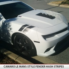 Chevrolet Camaro Fender Hash Side Stripes Lemans Style 2010 11 12 13 14