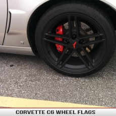 Corvette Wheel Flag OEM Replacement