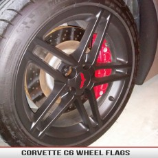 Corvette C6 Wheel Overlay Flags