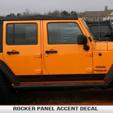 Rocker Panel Accent Decal JK 2Dr/4Dr