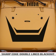 Clean Lines Sharp Edge Hood Blackout Jeep WranglerJK XJ TJ YJ