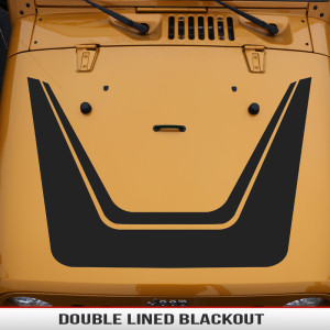 Double_lined_hood_blackout_design_Jeep_wrangler_JK_XJ_TJ_YJ
