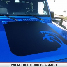 Palm Tree Jeep Hood Blackout