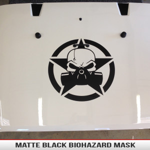 matte_black_Biohazard_mask_and_skull_zombie_hood_decal_jeep_wrangler_universal_tactical
