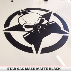 Military Star Biohazard Gas Mask Skull Jeep Hood Decal Wrangler Cherokee Universal2