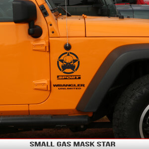 Gas_mask_zombie_biohazard_star_small_fender_decal_jeep_wrangler_cherokee