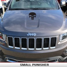 Punisher Small Hood Decal Jeep Wrangler Grand Cherokee