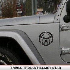 Spartan Gladiator Star Trojan Helmet Small Fender Decal Jeep Wrangler Grand Cherokee