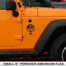 Punisher Skull American Flag Decal Hood Fender Jeep Decal