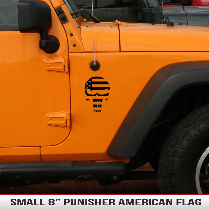 Punisher-skull-american-flag-decal-hood-fender-jeep-decal