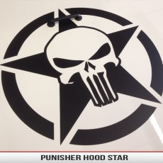 Punisher Military Star Infidel Oscarmike Hood Decal